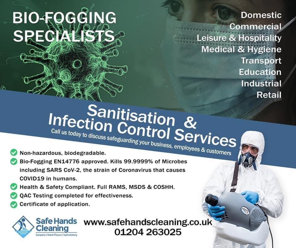 Coronavirus Cleaning Bolton Bio-Fogging Flyer